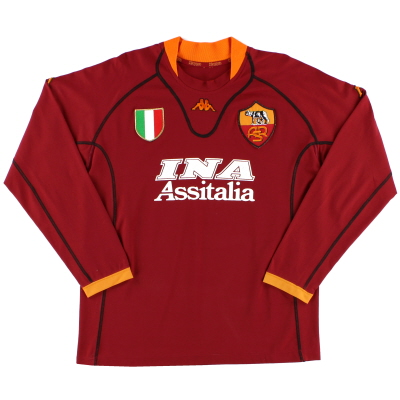 2001-02 Roma Home Shirt L/S XL