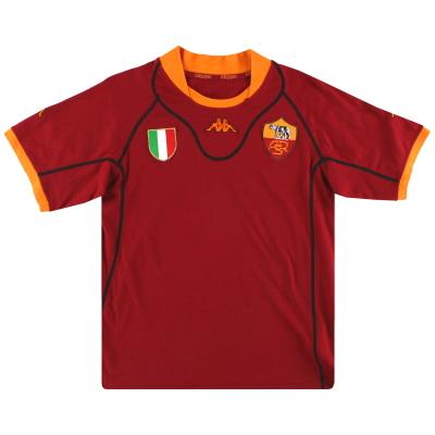 2001-02 Roma Kappa Home Shirt XL.Boys