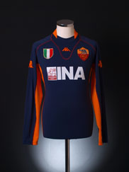 2001-02 Roma Third Shirt L/S XXXL