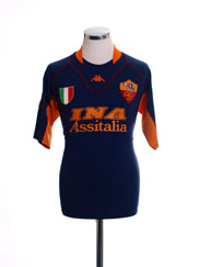 2001-02 Roma Third Shirt XL
