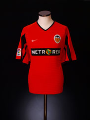 2001-02 Valencia Away Shirt L
