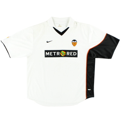 2001-02 Valencia Home Shirt XL