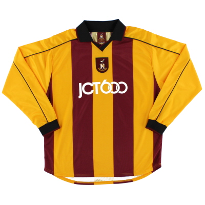 2001-03 Bradford City Home Shirt L/S *Mint* L