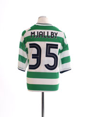 2001-03 Celtic Home Shirt Mjallby #35 XXL