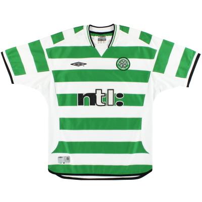 2001-03 Celtic Umbro Home Shirt L