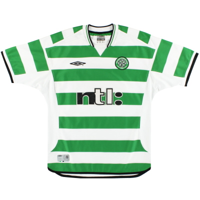 2001-03 Celtic Umbro Home Shirt L