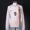 2001-03 England Home Shirt #9 L/S XL