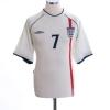 2001-03 England Home Shirt Beckham #7 M