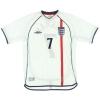 2001-03 England Home Shirt Beckham #7 L
