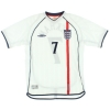 2001-03 England Home Shirt Beckham #7 XL