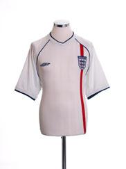 2001-03 England Home Shirt M