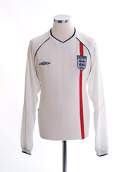 2001-03 England Home Shirt L/S M