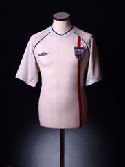 2001-03 England Home Shirt M.Boys