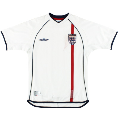 2001-03 England Umbro Home Shirt S