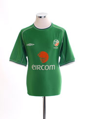 2001-03 Ireland Home Shirt L