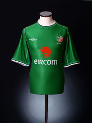 2001-03 Ireland Home Shirt S