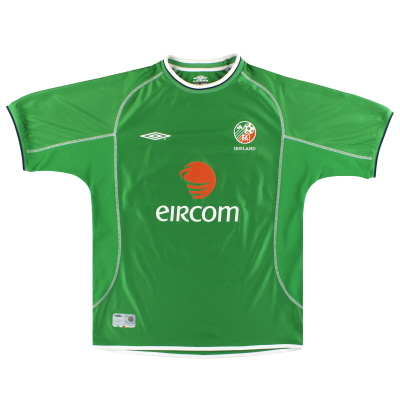 2001-03 Ireland Umbro Home Shirt L
