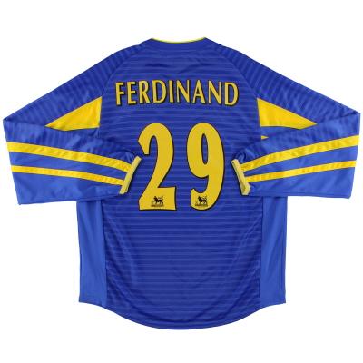 2001-03 Leeds Away Shirt Ferdinand #29 L/S M