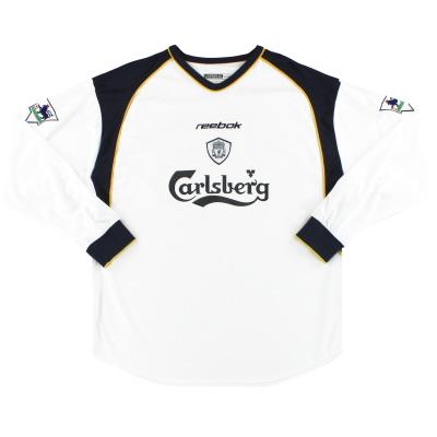 2001-03 Liverpool Reebok Away Shirt L/S *Mint* L