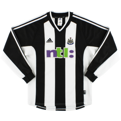 2001-03 Newcastle adidas Home Shirt L/S M