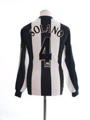 2001-03 Newcastle Home Shirt Solano #4 L/S M