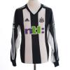 2001-03 Newcastle Home Shirt Solano #4 L/S M