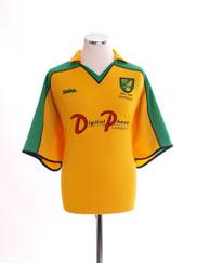 2001-03 Norwich City Centenary Home Shirt XXL