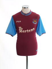 2001-03 West Ham Home Shirt S
