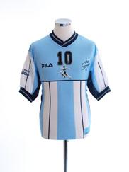2001 Argentina Diego Maradona Testimonial Shirt #10 *Mint* L