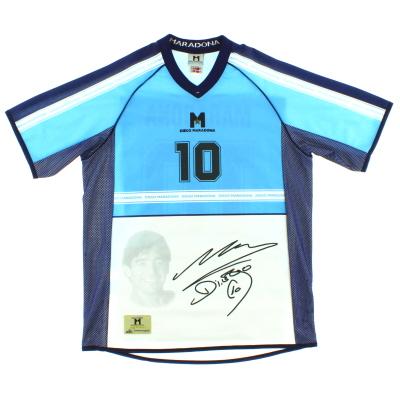 2001 Argentina Signed Maradona T-Shirt L