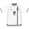 2001 England 'Germany 1 England 5' Home Shirt Owen #10 L