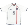 2001 England 'Germany 1 England 5' Home Shirt Owen #10 XL