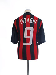 2002-03 AC Milan Home Shirt Inzaghi #9 XL