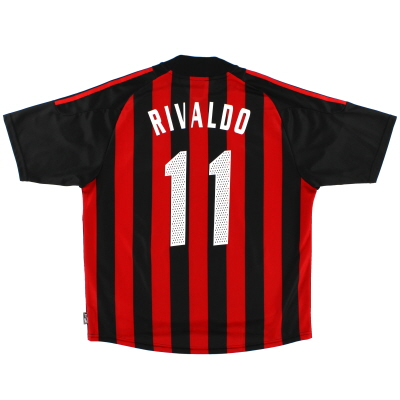 2002-03 AC Milan Home Shirt Rivaldo #11 *Mint* XL