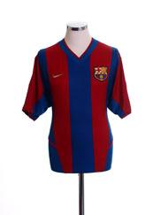 2002-03 Barcelona Home Shirt M