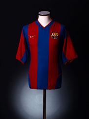2002-03 Barcelona Home Shirt XL
