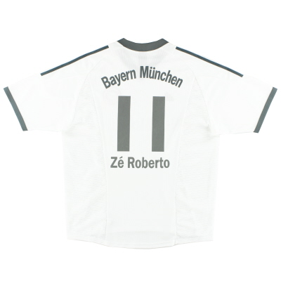 2002-03 Bayern Munich Away Shirt Ze Roberto #11 XL