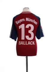2002-03 Bayern Munich Home Shirt Ballack #13 L