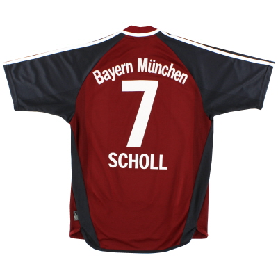 2002-03 Bayern Munich Home Shirt Scholl #7 L
