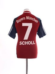 2002-03 Bayern Munich Home Shirt Scholl #7 M