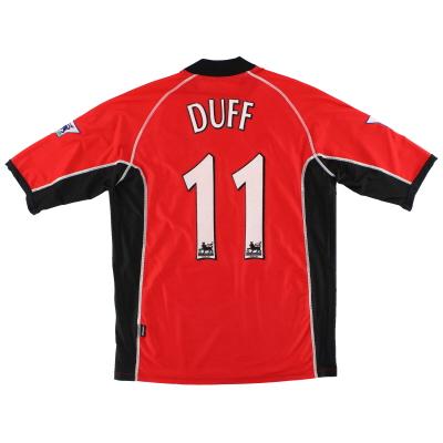 2002-03 Blackburn Kappa Match Worn Away Shirt Duff #11 XXL