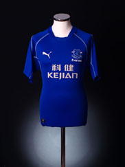 2002-03 Everton Home Shirt S