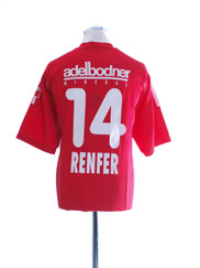 2002-03 FC Thun 'Signed' Match Issue Shirt Renfer #14 XL