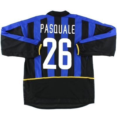 2002-03 Inter Milan Match Issue Home Shirt Pasquale #26 L/S XL