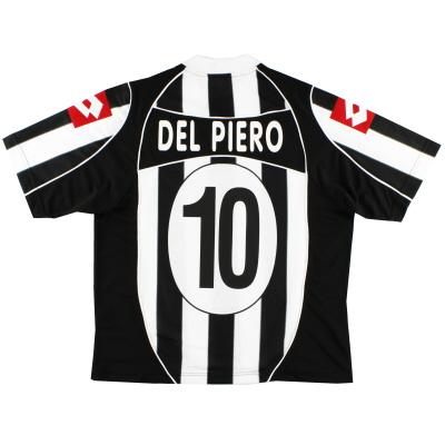 2002-03 Juventus Home Shirt Del Piero #10 *As New* XXL