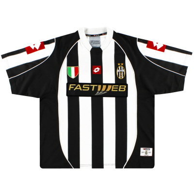2002-03 Juventus Lotto Home Shirt M
