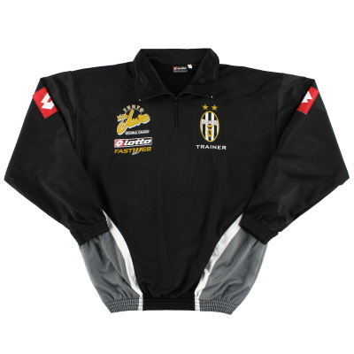 2002-03 Juventus Lotto Player Issue 1/4 Zip Track Jacket L