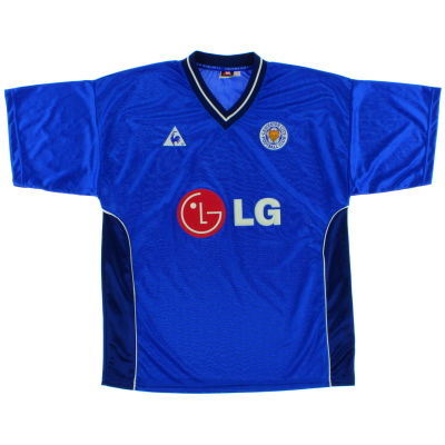 2002-03 Leicester Le Coq Sportif Home Shirt *Mint* XL