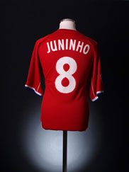 2002-03 Lyon CL Match Issue European Shirt Juninho #8 L