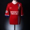 2002-03 Lyon CL Match Issue European Shirt Juninho #8 L